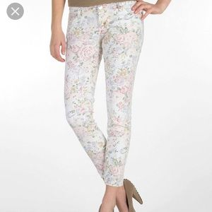 NWT celebrity pink ankle floral skinny jeans